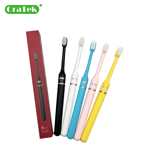 AA Battery Electric Toothbrush With Replacement Toothbrush Heads Washable Whitening Tooth Brush