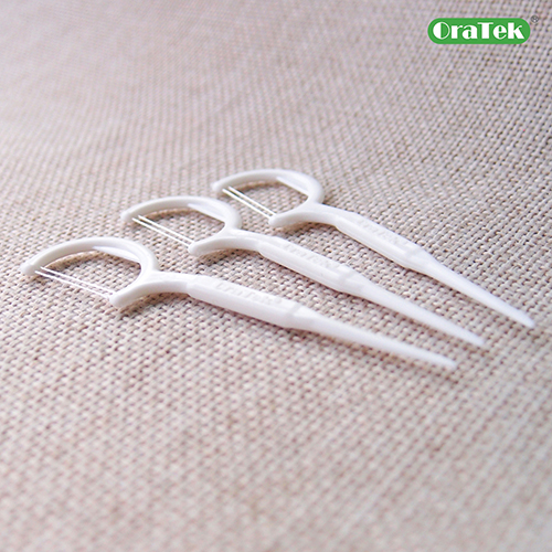 Individually Wrapped 2 Strings Dental Floss Pick