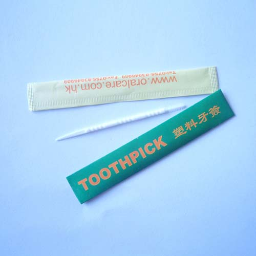 Individually Paper Wrapped Plastic Toothpick